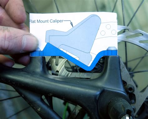 Adapter guide for Flat Mount Caliper on Post Mount Frame