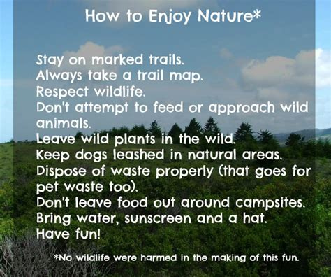 Get Outside and Enjoy Nature