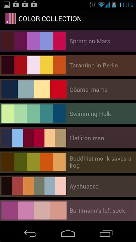 Color Collection, palettes » Apk Thing - Android Apps Free